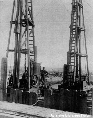 Ardrossan dock construction