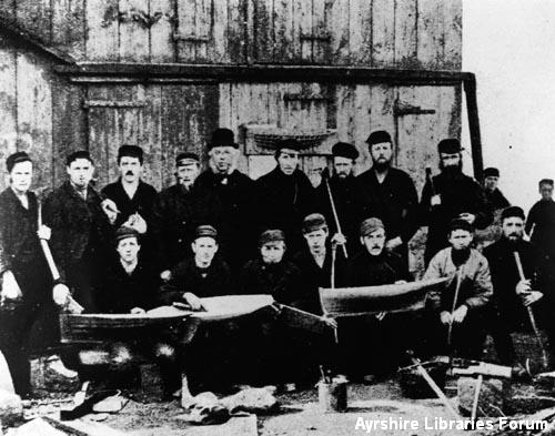 Carpenters at William Fife & Sons' shipyard