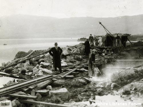 Construction of Loch Recawr dam